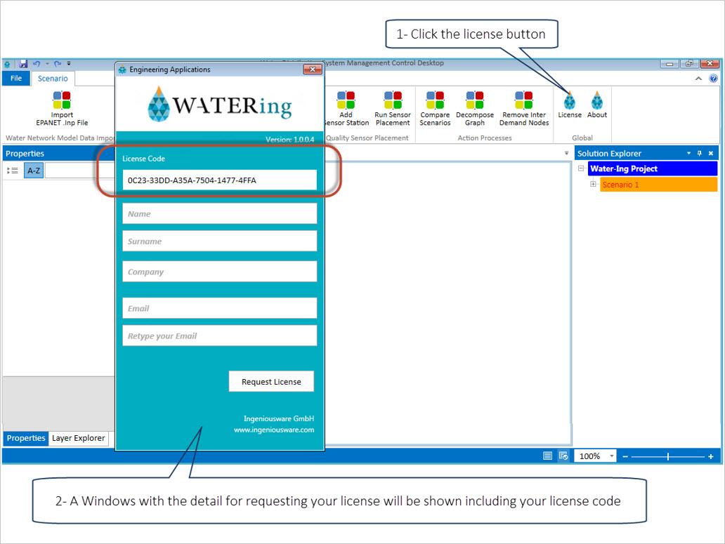 license code water-ing